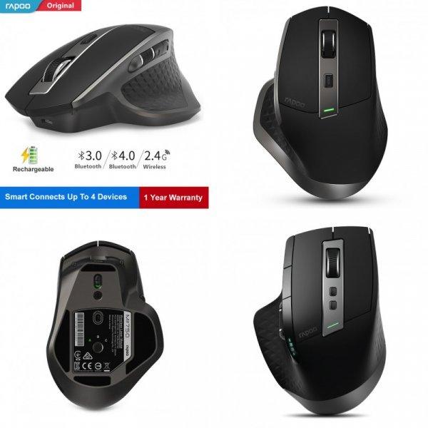 Удобная мышь Rapoo MT750 с Bluetooth 4.0/3.0 для 4 каналов
