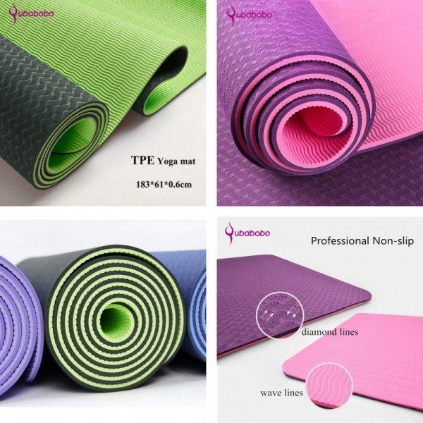Шикарный коврик для йоги QUBABOBO (6 мм, 183*61*0.6 мм, 8 цветов)