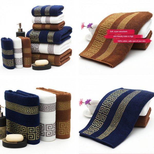 Набор бамбуковых полотенец (3 цвета, 2 размера)