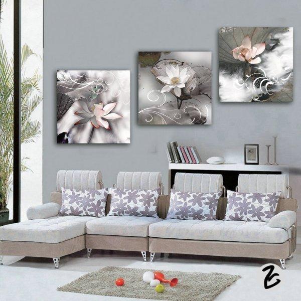 Постер Цветочная композиция для кухни и спальни (3 части, 3 композиции и 6 размеров)