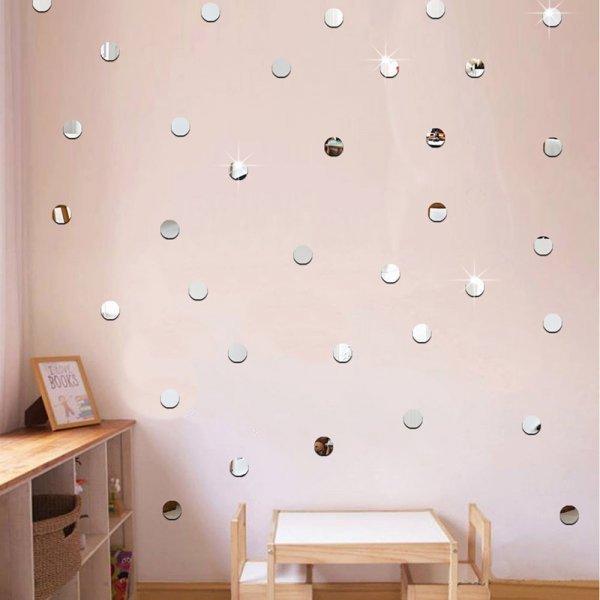 Блестящие наклейки на стену Сердце (100 шт, 4 цвета, 2.5*2 см)