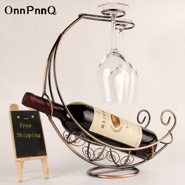 Шикуем! Держатель для бутылки и бокалов Onnpnnq  (3 цвета, 33*12*34 см)