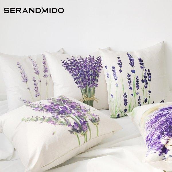 Элегантный чехол на подушку для  спальни или гостиной (7 принтов, 45*45 см)