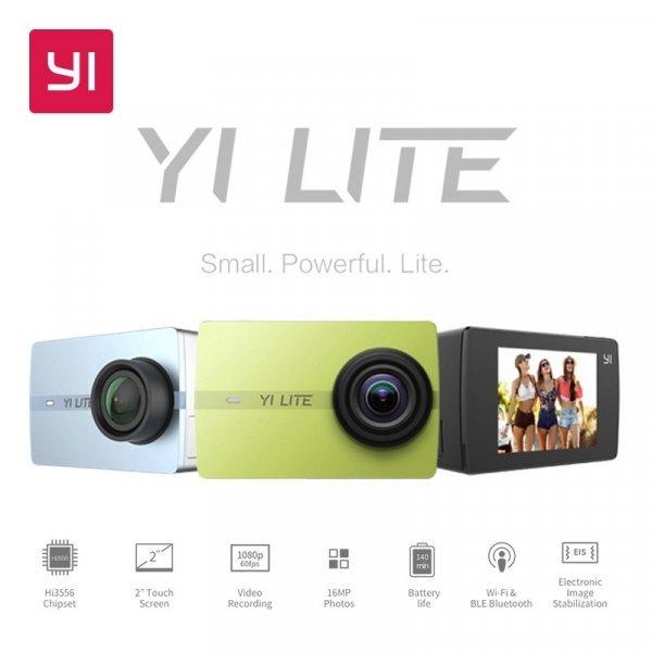 """Отличная экшн камера YI Lite 4 K WI-FI 2 """" (150 градусов)"""