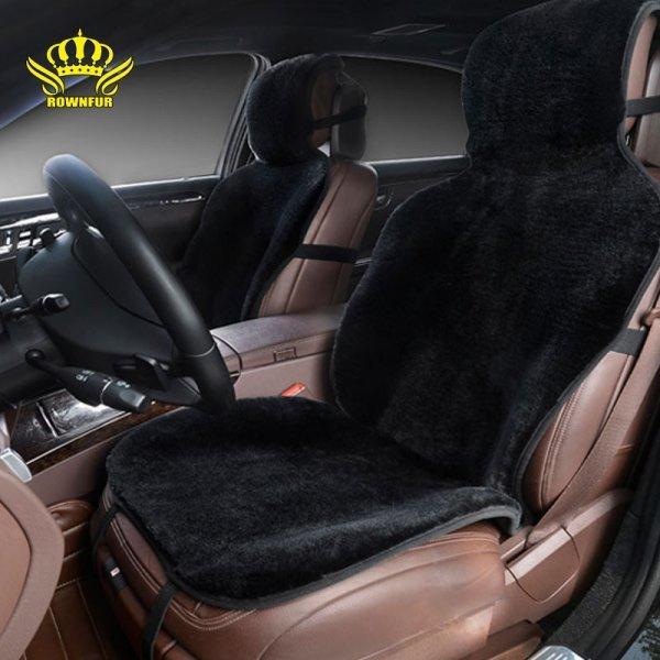 Шикарный мягкий авточехол для сидений Rownfur (иск.мех, 142*57*3 см)