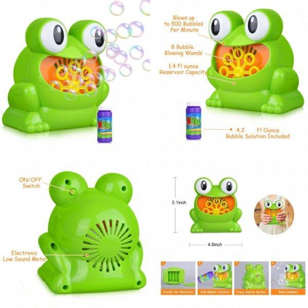 Забавная лягушка  Litchi надует такие пузыри (500 пузырей в мин.)