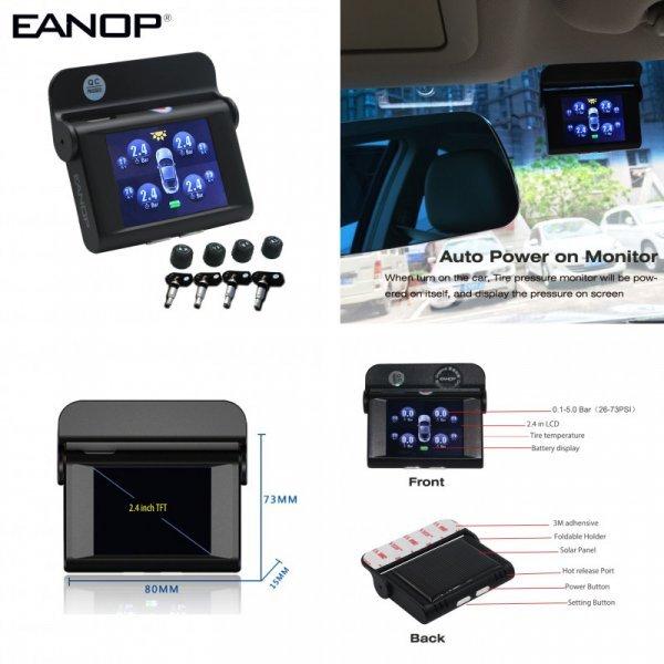 """Монитор и датчики давления в шинах EANOP EN368 2.4"""""""