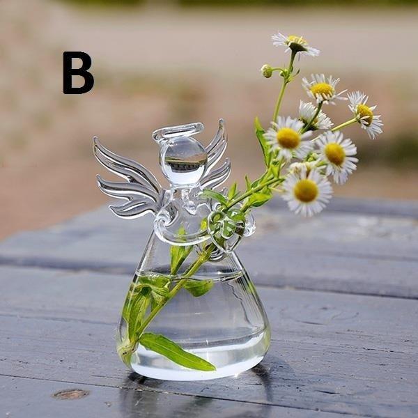 Изысканная стеклянная ваза Ангел (6,5*8,5 см)