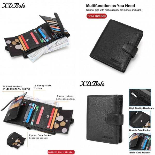 Мужское портмоне из кожи X. D. BOLO (2 цвета)
