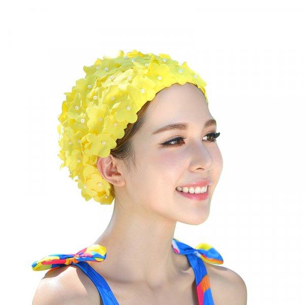 Объемная шапка для плавания Цветы такая бережная (8 цветов)