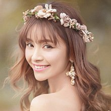 Нежный цветочный венок для невесты и ее подружек TUANMING