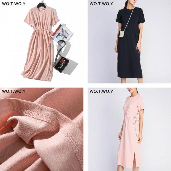 Платье с кулисой на каждый день WO.T.WO.Y (4 размера, 3 цвета)