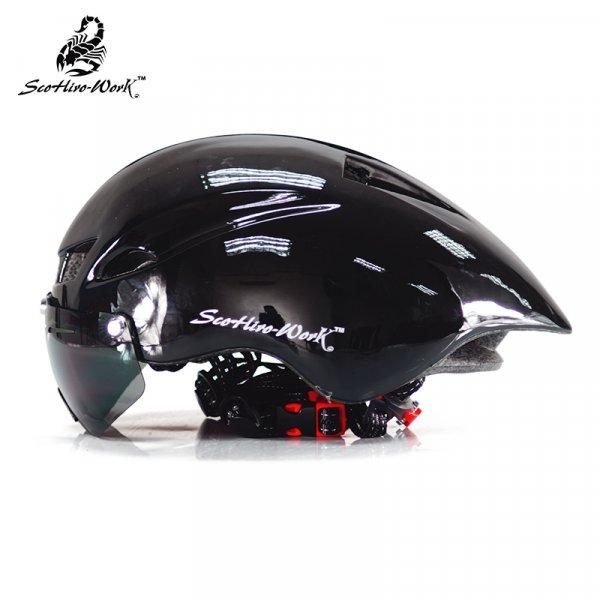 Стильный велошлем для взрослых SCOHIRO-WORK (7 цветов, окр. гол: 57-61 см)