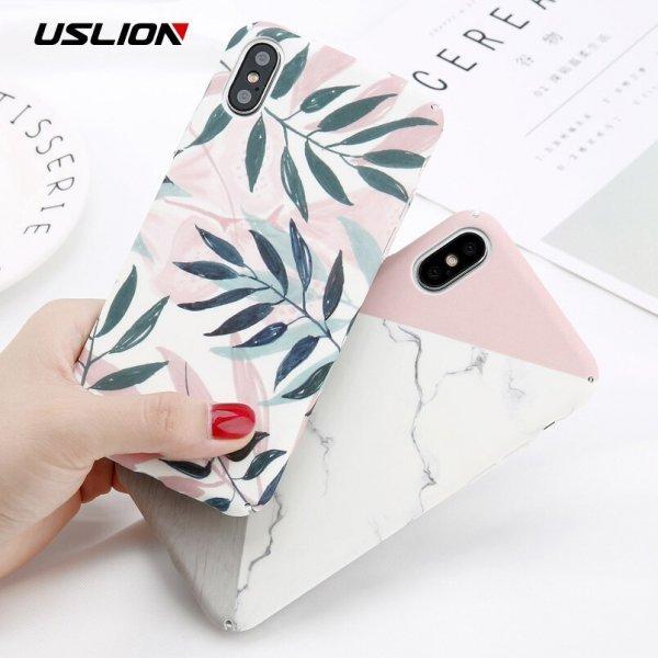 Бампер USLION для iPhone в веселом дизайне (10 дизайнов)