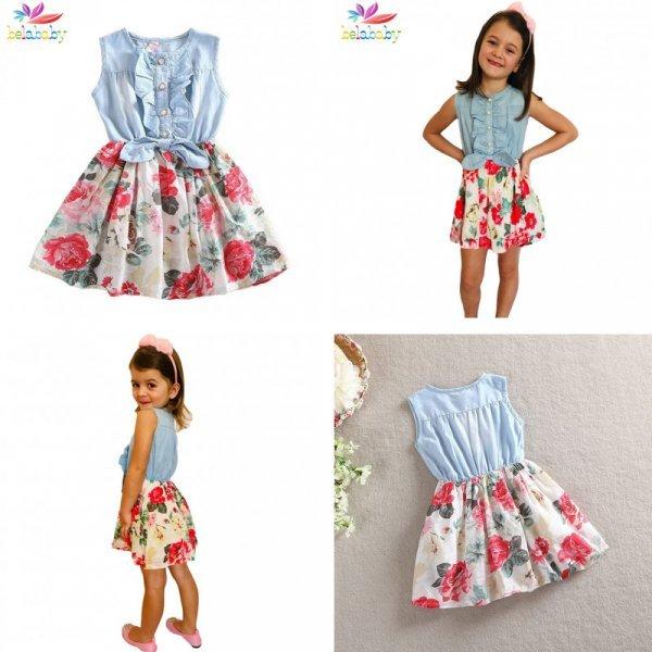 Веселое платье Belababy для девочек на стиле