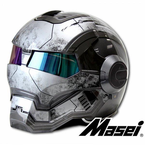 Безопасный шлем для мотоцикла Masei (5 размеров, 2 цвета)