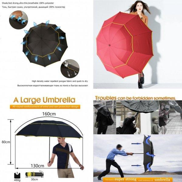 Зонт против сильного ветра