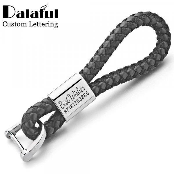 Именной брелок для ключей авто Dalaful (6 цветов)
