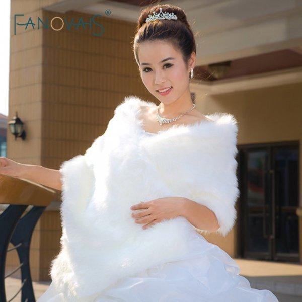 Роскошная накидка для невесты FANOVAIS (4 цвета)
