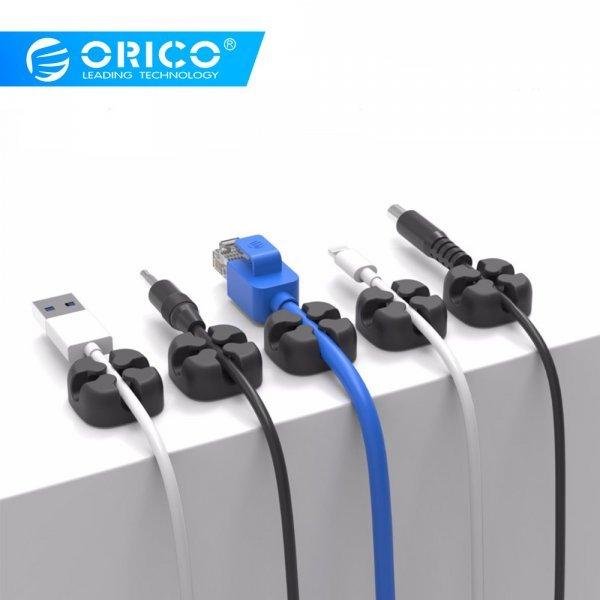 Держатель для проводов ORICO (5 шт, 23*23*10 мм)