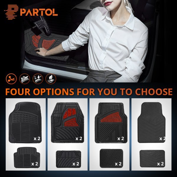 Комплект ковриков с бортиками для  авто (4 шт, Лада Honda KIA BMW Toyota VW Golf Mazda Partol)