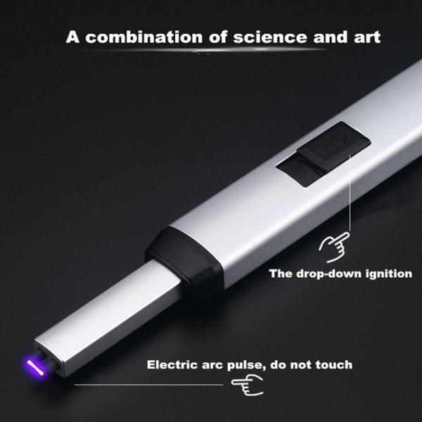 Универсальная электрическая зажигалка с USB-зарядкой (3 цвета, 16.5*230 мм, 25.5*230 мм)