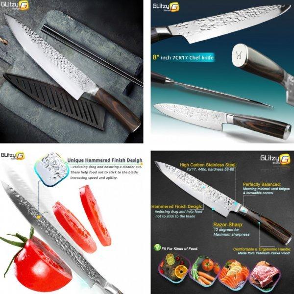 Шикарный нож шеф-повара для мяса MYVIT (20.3 см, сталь)