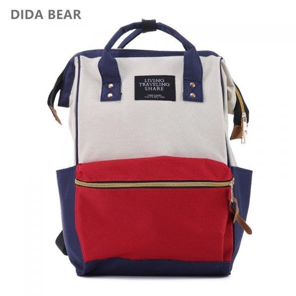 Вместительный рюкзак для путешественника DIDA BEAR (26*40*17 см, 17 цветов)