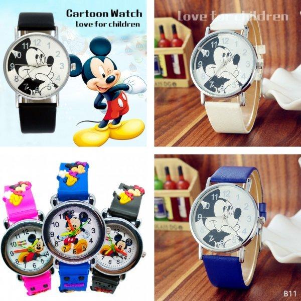 Часы с Микки Маусом Hbibi (2 вида, 6 цветов)