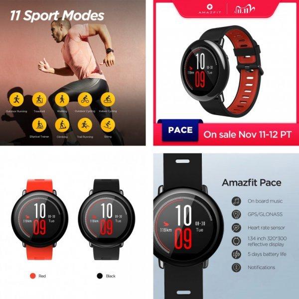 Смарт часы Amazfit Pace (2 цвета)