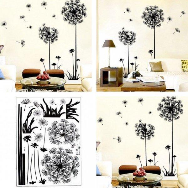 Большие стикеры для декора стен гостиной KXAAXS (2 шт, 70*50 см)