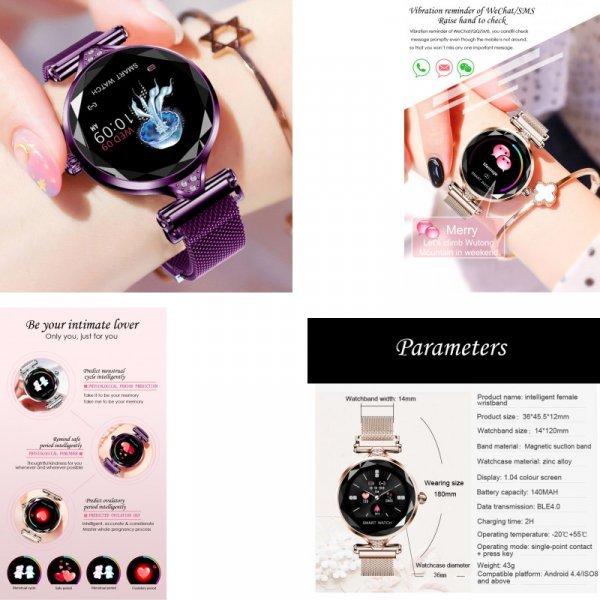 Роскошные смарт часы для женщин  696 (4 цвета)