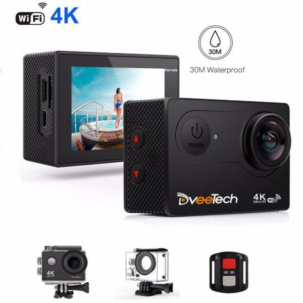 Снимай под водой с экшен-камерой Dveetech  170 градусов 1080 P Full HD с пультом
