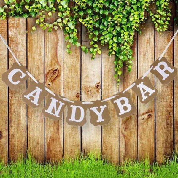 Гирлянда для свадебного банкета Candy Bar