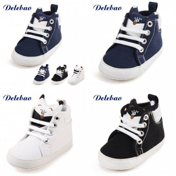 Стильные кроссовки-пинетки из хлопка для маленькихх модников