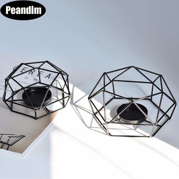 Геометрический подсвечник Peandim (5.5*13 см, 15.5*7 см)