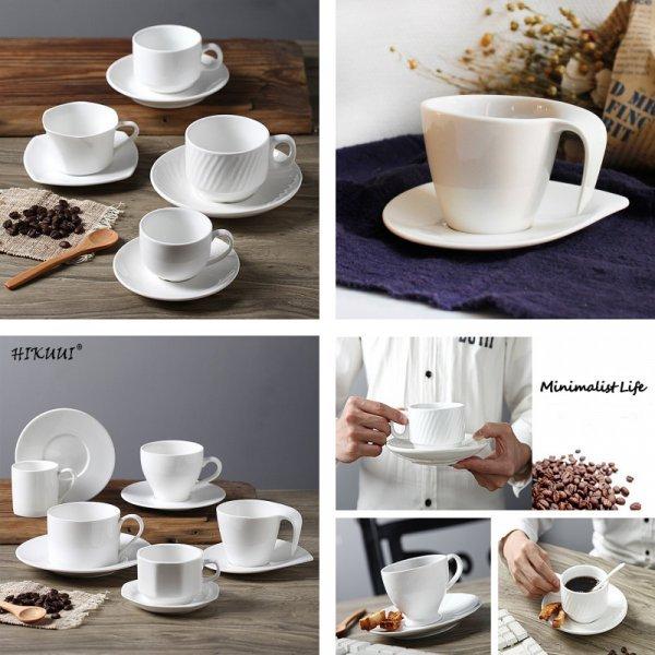 Белоснежная чашка (5 видов, фарфор)