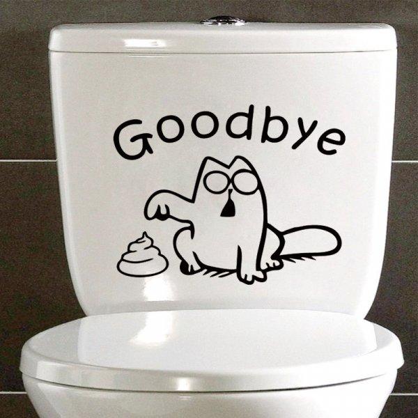 Декоративная наклейка Кот Саймона для ванной