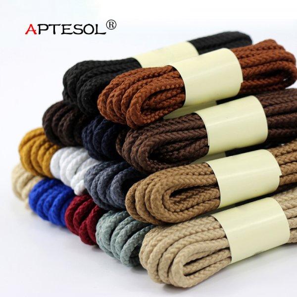 Классические шнурки на каждый день APTESOL  (1 пара, 14 цветов, 80/100/120/140/160 см)