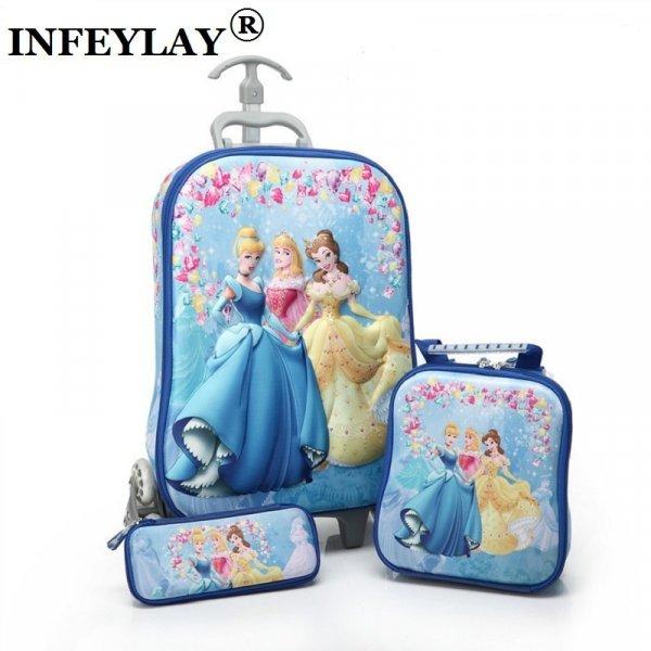 Легкий чемодан 3 в 1 для детей NFEYLAY (13 вариантов, 30*15*47 см)