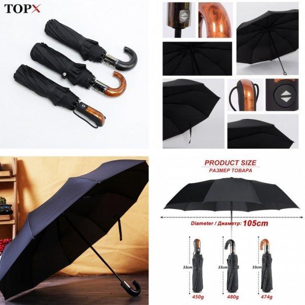 Классический зонт TOPX (3 цвета)