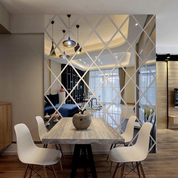 Декоратавные наклейки для зеркальной стены (2 цвета, 50*50 см, 50*100 см, 100*100 см)