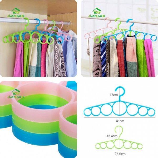 Мини вешалка для шарфов и ремней (7 колец, 41*17 см и 27.5*13.4 см)