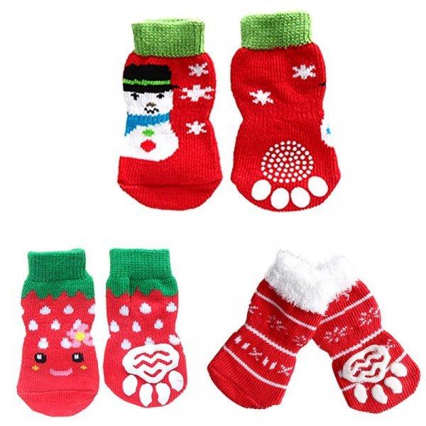 Веселые носочки для питомца TAILUP (4 шт, 3 размера, 5 цветов)