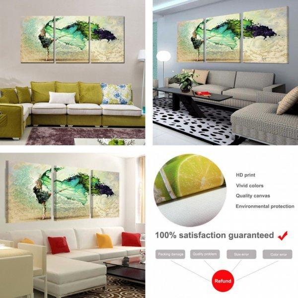 Красочный постер Крылья для современной квартиры (3 части, 6 размеров)