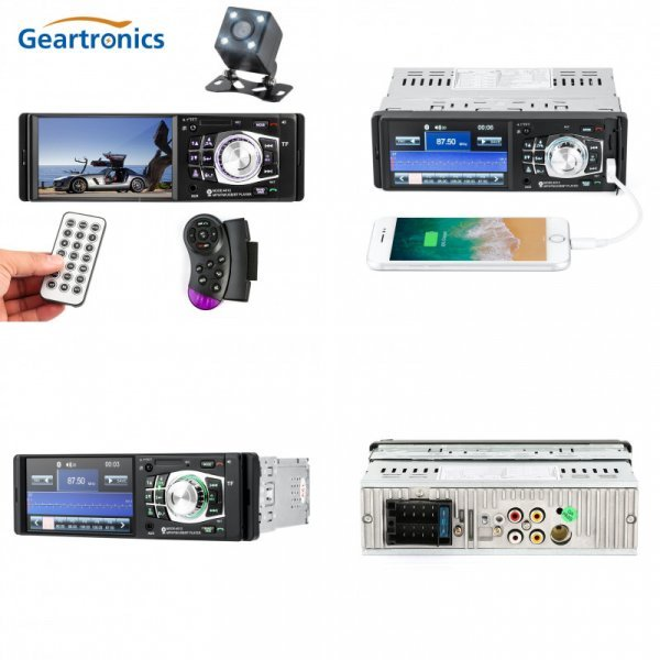 "Магнитола для авто Geartronics 4.1"" ( tft, Bluetooth 2.0  1 din USB)"