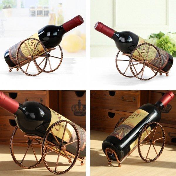 Шикарный держатель для вина Strongwell на колесах (нерж.сталь, 19*12 см)