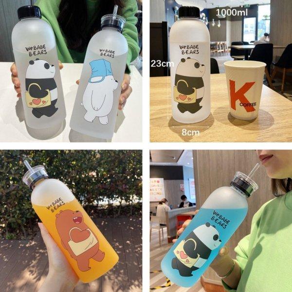Прозрачная пластиковая бутылка (18 принтов)
