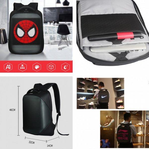 Рюкзак с LED дисплеем Litake