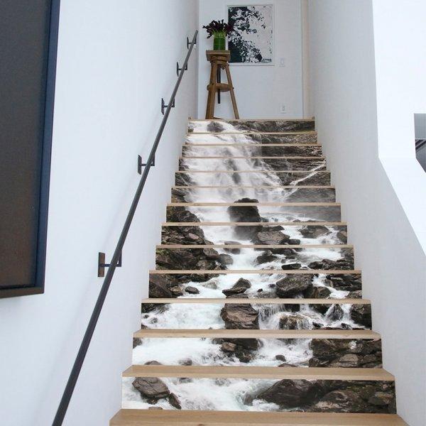 Виниловые наклейки на лестницу (3 пейзажа, 18*100 см, 13 шт)